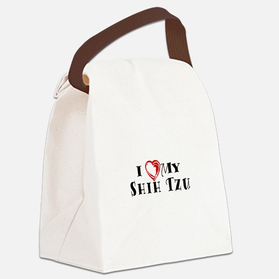 I Heart My Shih Tzu Canvas Lunch Bag