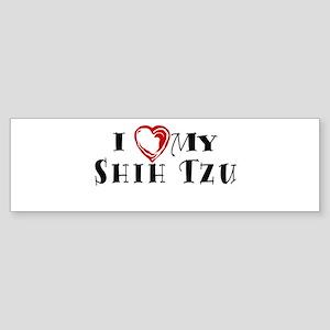I Heart My Shih Tzu Sticker (Bumper)