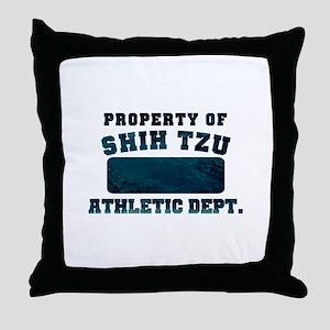 Property of Shih Tzu Throw Pillow