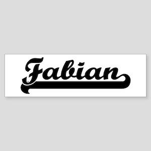 Black jersey: Fabian Bumper Sticker