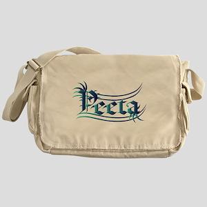 Peeta Lettering Hunger Games Design in Turquoise M