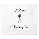 I love photography - Antique Camera King Duvet