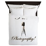 I love photography - Antique Camera Queen Duvet