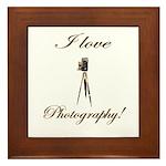 I love photography - Antique Camera Framed Tile