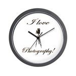 I love photography - Antique Camera Wall Clock