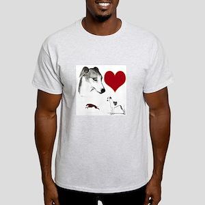 whippet valentine Light T-Shirt