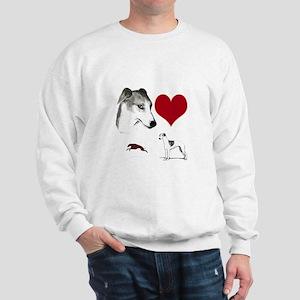 whippet valentine Sweatshirt