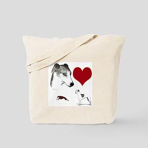 whippet valentine Tote Bag