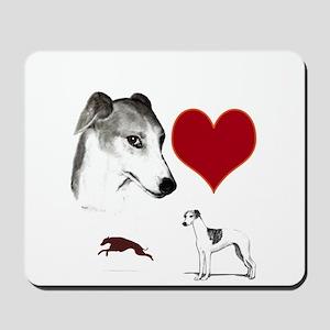 whippet valentine Mousepad