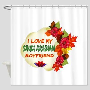 Saudi Arabian Boyfriend designs Shower Curtain