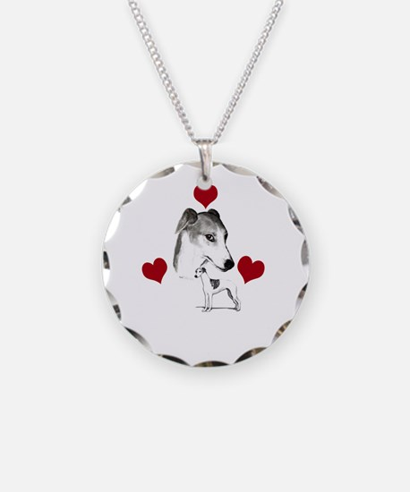 italian grey hound love n he Necklace