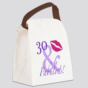30 And Fabulous! Canvas Lunch Bag