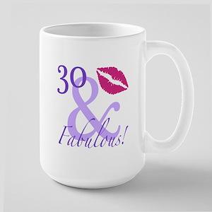 30 And Fabulous! Large Mug