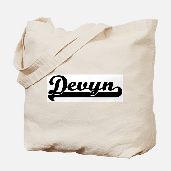 Black jersey: Devyn Tote Bag