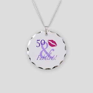 50 And Fabulous! Necklace Circle Charm