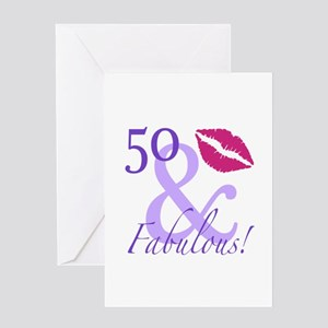 50 And Fabulous! Greeting Card