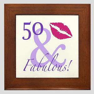 50 And Fabulous! Framed Tile