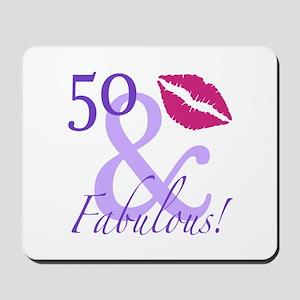 50 And Fabulous! Mousepad