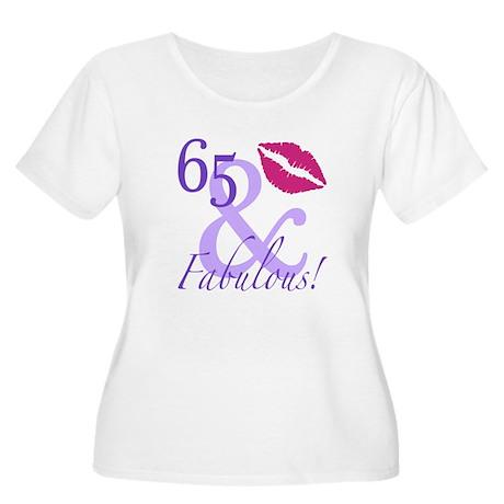 65 And Fabulous! Women's Plus Size Scoop Neck T-Sh