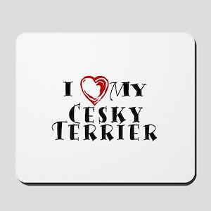 I Heart My Cesky Terrier Mousepad