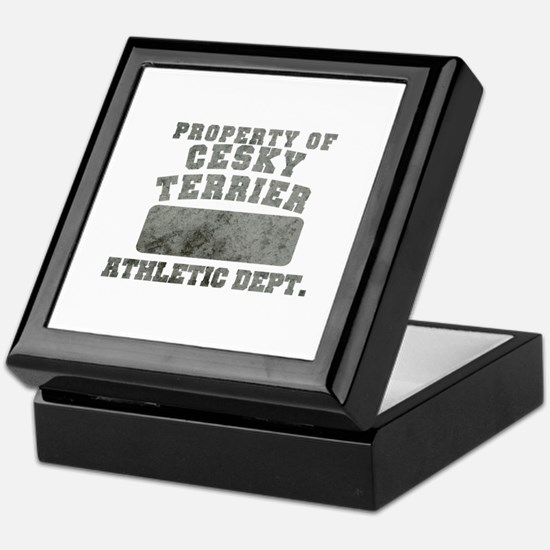 Property of Cesky Terrier Keepsake Box