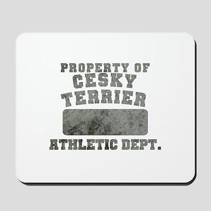 Property of Cesky Terrier Mousepad