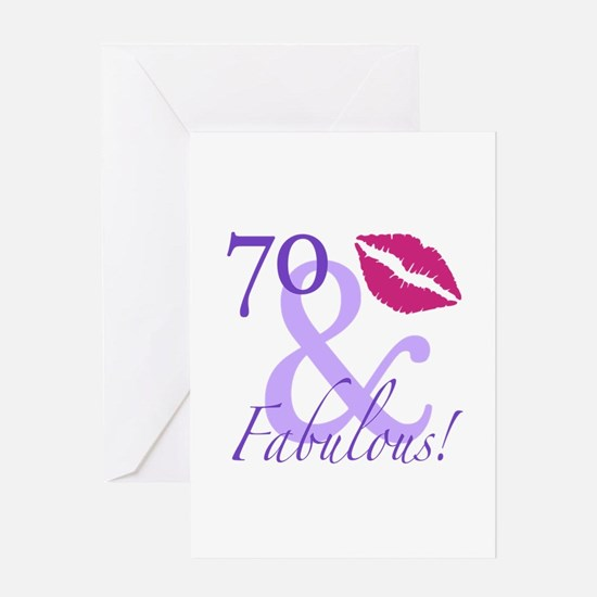 70 And Fabulous! Greeting Card