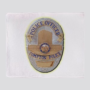 Compton Police Officer Throw Blanket