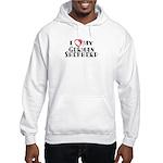 I Heart My German Shepherd Hooded Sweatshirt