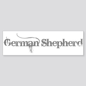 German Shepherd Sticker (Bumper)