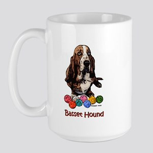 Christmas Balls Basset Hound Holiday Large Mug
