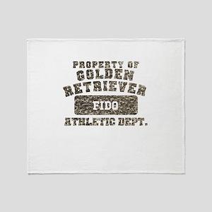 Personalized Golden Retriever Throw Blanket
