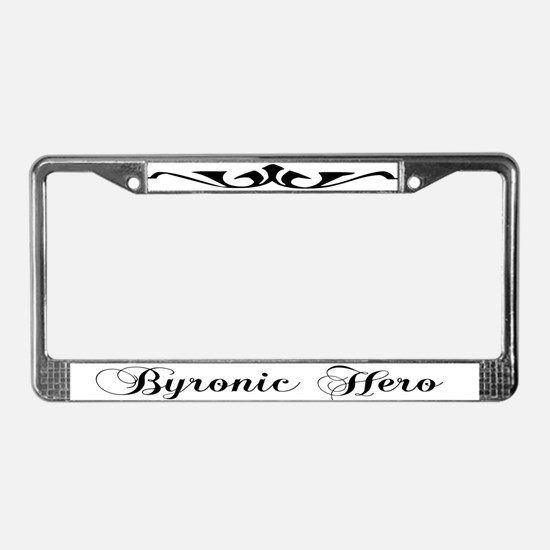 Byronic Hero License Plate Frame