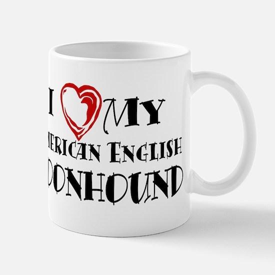 I Heart My Am. English Coonhound Mug