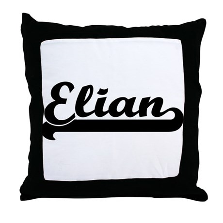 Black jersey: Elian Throw Pillow