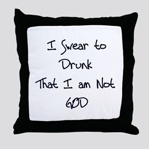 Swear to Drunk Throw Pillow