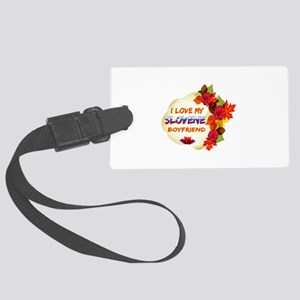 Slovene Boyfriend designs Large Luggage Tag