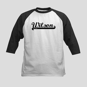 Black jersey: Wilson Kids Baseball Jersey