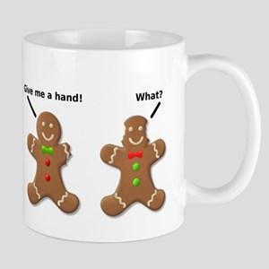 Gingerbread Lend A Hand Funny T-Shirt Mug