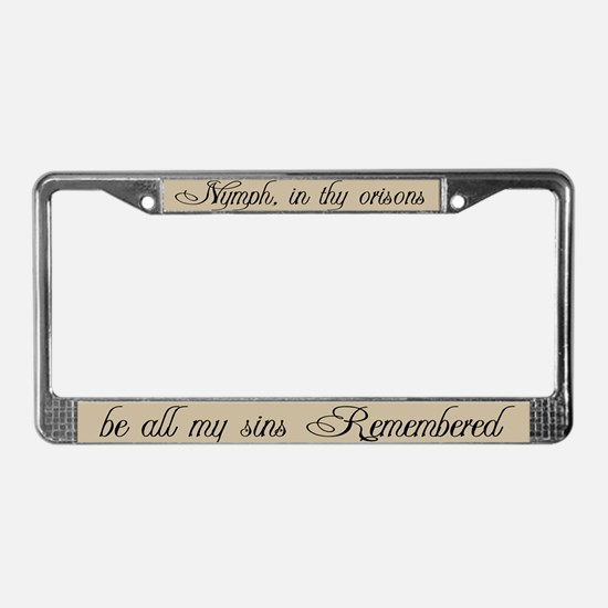 Be All My Sins Remembered License Plate Frame
