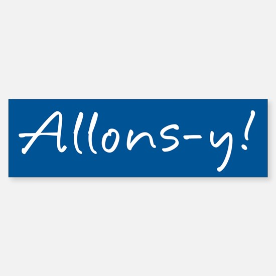 French Allons-y Sticker (Bumper)