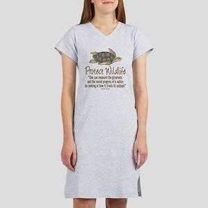 Protect Sea Turtles Women's Nightshirt