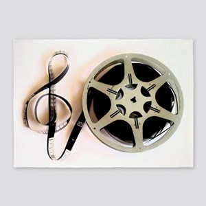 Reel and Clef Film Music Design2 5'x7'Area Rug