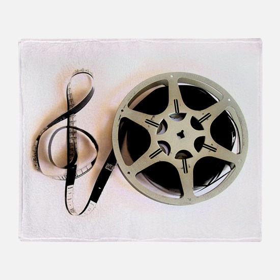 Reel and Clef Film Music Design2 Throw Blanket
