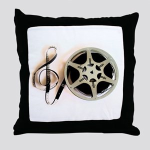 Reel and Clef Film Music Design2 Throw Pillow