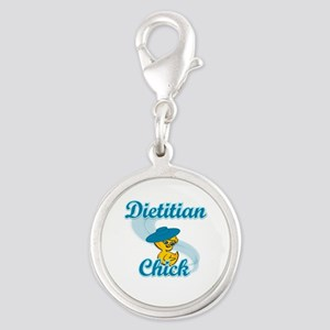 Dietitian Chick #3 Silver Round Charm