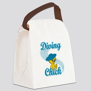 Diving Chick #3 Canvas Lunch Bag