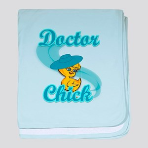 Doctor Chick #3 baby blanket