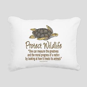 Protect Sea Turtles Rectangular Canvas Pillow