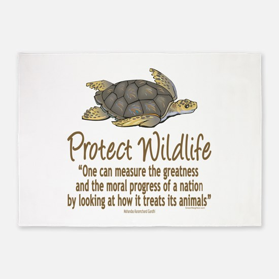 Protect Sea Turtles 5'x7'Area Rug